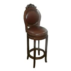 Picture of 4263 Classic Brunswick Wood Swivel Barstool