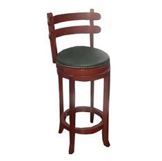 Picture of 4261 Two Slat Wood Swivel Barstool