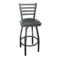 Picture of 073S Swivel Ladder Back Metal Barstool