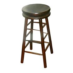 Picture of 007 Classic Backless Swivel Wood Stool