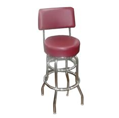 Picture of 009 Swivel Chrome Vinyl Barstool with Back