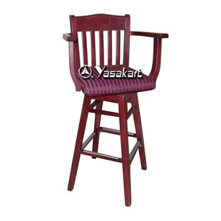 Picture of 070 Library Swivel Wood Swivel Bar Stool