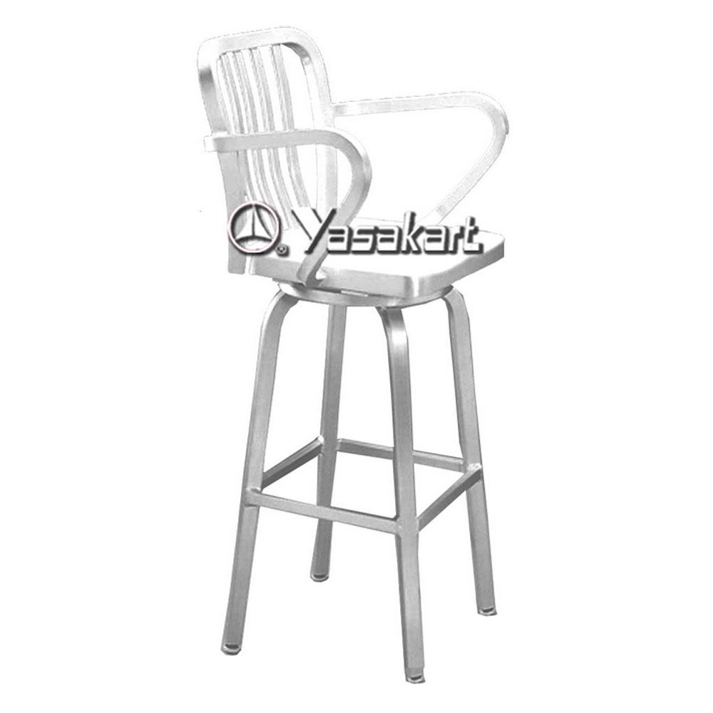 Picture of 169 Brushed Aluminum Swivel Navy Barstool  sc 1 st  Yasakart & Standard Chair. 169 Brushed Aluminum Swivel Navy Barstool ... islam-shia.org