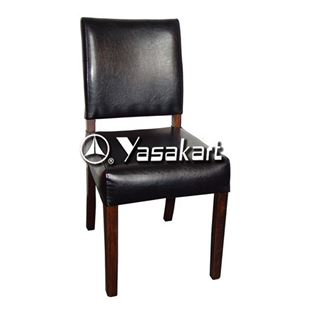 Picture of 2027 Parson Short back Deluxe Leather Wooden Chair