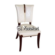 Picture of 3004 Serafina Parson Deluxe Leather Wood Side Chair