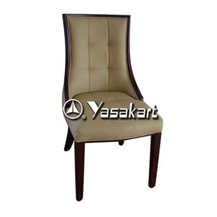 Picture of 3001 Rossi Deluxe Leather Wood Side Chair