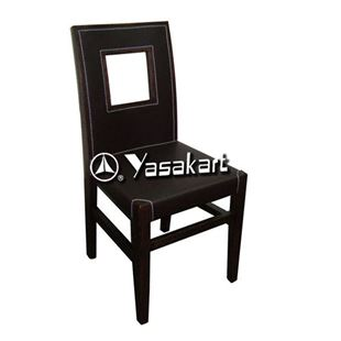 Picture of 2066 Enzo Portico Deluxe Leather Wood Side Chair