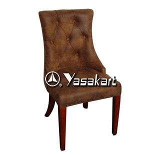 Picture of 2031V Orebro Deluxe Leather Wood side Chair