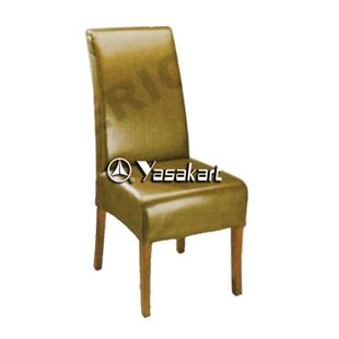 Picture of CW3020 Etoile Edwards  Deluxe Leather Wooden Chair