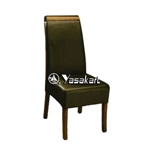 Picture of 3025 Calligaris Deluxe Leather Wood Side Chair