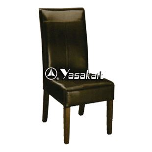Picture of CW3052 Coast Deluxe Leather Wood Side Chair