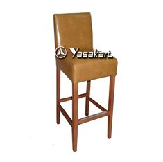 Picture of 2020 Cosmopolitan Deluxe Leather Wood Barstool