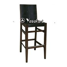 Picture of 2086 Bungalow Dinning Deluxe Leather Wood Barstool