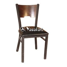 Picture of 077 Metal Frame Wood Side Chair (WALNUT)