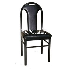 Picture of 016 Central Slat Upholstered Metal Side Chair