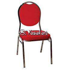 Picture of 130 Tear drop Stacking chair w. Red pattern