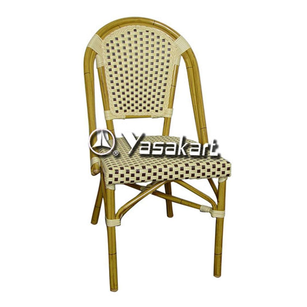 Standard chair ac001 aluminum and cane natural bistro arm chair restaurant furniture supply - Cane bistro chairs ...