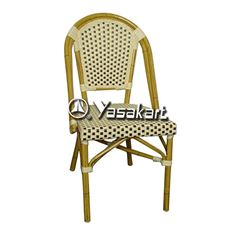 Picture of AC001 Aluminum And Cane Natural Bistro Arm Chair