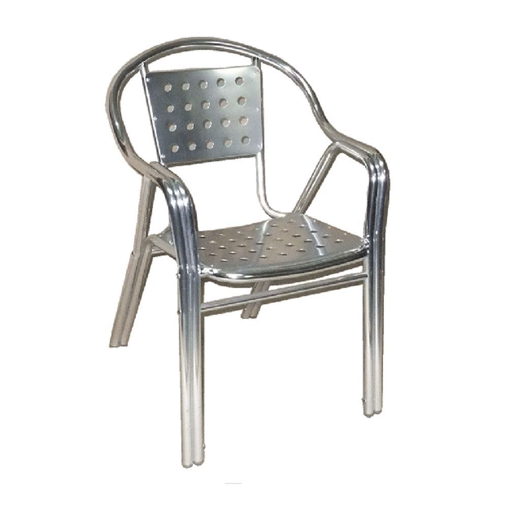 Charmant 261 Panel Back Stainless Steel Chair