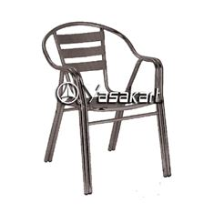 Picture of 161 Single Tube Brushed Aluminum Navy Arm Chair