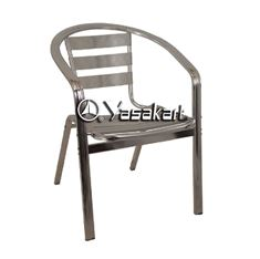 Picture of 020 Double Tube Aluminum Slat Stacking Arm Chair