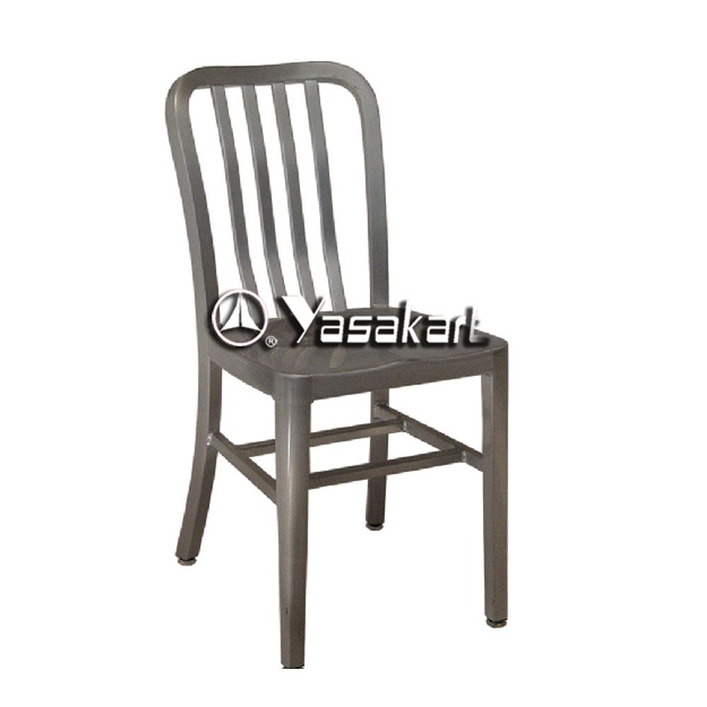 Standard Chair 165 Brushed Aluminum Navy Side Chair