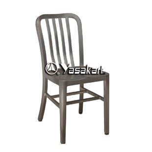 Picture Of 165 Brushed Aluminum Navy Side Chair
