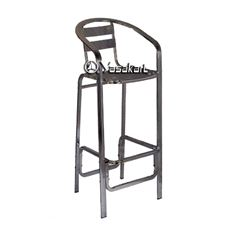 Picture of 020 Double Tube Aluminum Slat Stacking Barstool