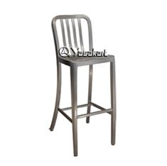 Picture of 165 Brushed Aluminum Navy Barstool