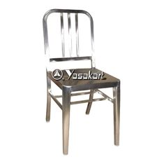 Picture of 265 Brushed Stainless Steel Navy Side Chair
