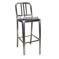 Picture of 265 Brushed Stainless Steel Navy Side Barstool