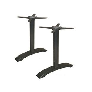 Standard Chair TB Twins Tube Cast Iron Metal Table Base - Cast iron restaurant table bases