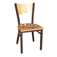 Picture of 077 Metal Frame Wood Side Chair (NATURAL)