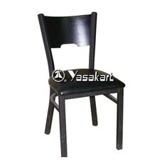 Picture of 077 Metal Frame Wood Side Chair (Black)