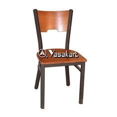 Picture of 077 Metal Frame Wood Side Chair (Orange)