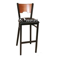 Picture of 077 Metal Frame Wood Barstool (ORANGE)