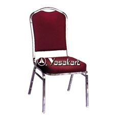 Picture of 117 Dome Padded Stacking chair W. Burgundy pattern