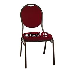 Picture of 130 Tear drop Stacking chair w. Burgundy pattern