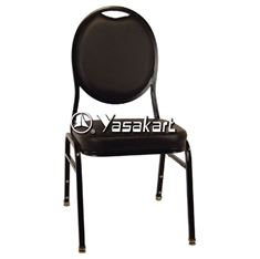 Picture of 130 Tear drop Stacking chair w. Black pattern