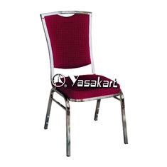 Picture of 136 Silhouse Stacking chair W. Burgundy Pattern